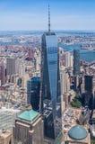 纽约-自由塔天空视图 图库摄影