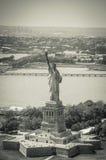 纽约-自由女神像天空视图 图库摄影