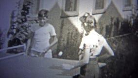 纽约- 1947年:打乒乓球的妇女作为体育开始变得普遍 股票视频