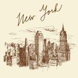 纽约 向量例证