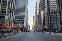 纽约-Januar 3 :商务的繁忙的旅游交叉点 免版税图库摄影