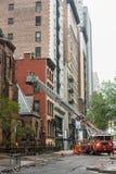 纽约FDNY的消防队 库存图片