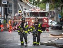纽约FDNY的消防队 免版税库存图片