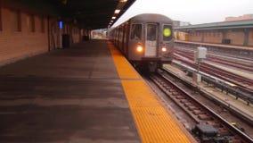 纽约G火车 股票视频