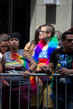 2016年纽约LGBT自豪感3月 库存图片