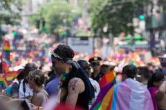 2016年纽约LGBT自豪感3月 图库摄影