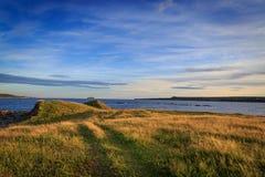 纽芬兰与拉布拉多风景海岸线  库存照片