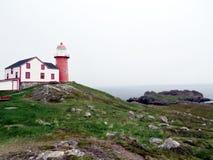 纽芬兰历史Ferryland灯塔2016年 库存照片