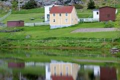 纽芬兰小镇 免版税库存照片