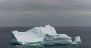纽芬兰海岸的冰山  免版税库存照片