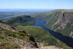 纽芬兰的十英里池塘 库存图片