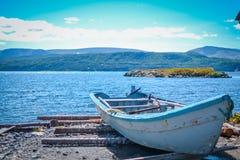 纽芬兰/加拿大- 2014年8月:在纽芬兰的夏天 免版税图库摄影