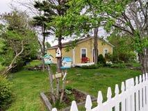 纽芬兰Brigus房子2016年 免版税库存照片
