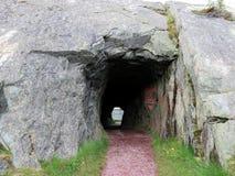 纽芬兰Brigus隧道2016年 免版税库存图片