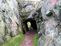 纽芬兰Brigus隧道2016年 库存照片