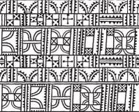 线、正方形、三角和弧装饰在传染媒介设计 在概述的无缝的样式背景 免版税库存图片