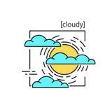 线与标志天气的传染媒介象 免版税库存图片