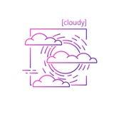 线与标志天气的传染媒介象 图库摄影