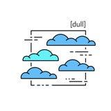 线与标志天气的传染媒介象 库存图片