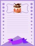 线与蛋糕的纸设计 图库摄影