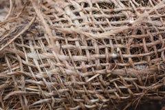 黄麻麻线丝球 线团自然绳索 关闭 图库摄影