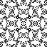 黑线亚洲几何马赛克无缝的样式 免版税库存图片