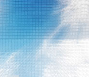 线光滑的蓝色抽象背景 免版税库存照片