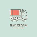 线卡车商标 免版税库存照片