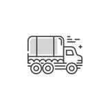 线卡车商标 免版税库存图片