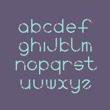 线和圈子拉丁字体 皇族释放例证