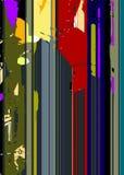 线和斑点五颜六色的抽象背景 库存例证