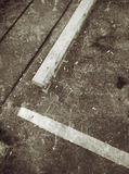 线和条纹在难看的东西街道上 免版税库存图片
