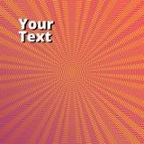线和波浪橙色背景  免版税图库摄影