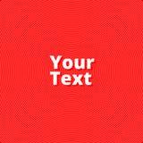 线和波浪红色背景  免版税库存照片
