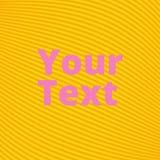 线和波浪黄色背景  免版税库存图片