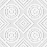 线和菱形的无缝的样式 几何墙纸 联合国 免版税图库摄影