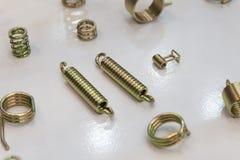 线圈弹簧的各种各样的类型 免版税库存照片