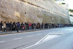 线在梵蒂冈 图库摄影