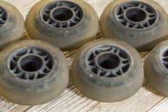 线型滑冰的轮子 免版税图库摄影