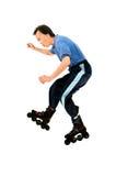 线型滑冰  免版税库存照片