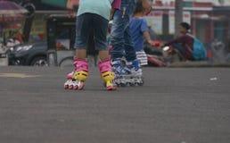 线型滑冰 免版税库存图片