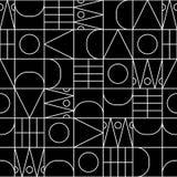 线形无缝的传染媒介几何样式 库存例证