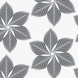 线性传染媒介样式,重复抽象叶子,叶子灰色线或花,花卉 图表清洗织品的设计,事件, wal 免版税库存照片