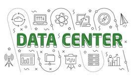 线性例证数据中心 图库摄影