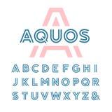 线性字体 scrapbooking向量的字母表要素 免版税库存照片