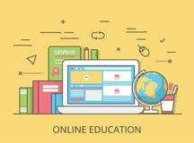 线性平的网上教育网站传染媒介 向量例证