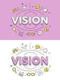 线性平的视觉眼睛象网站传染媒介 库存照片