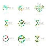 线性时间摘要商标集合,被连接的多彩多姿的段 库存例证