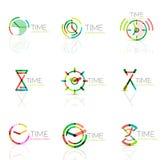 线性时间摘要商标集合,被连接的多彩多姿的段 向量例证