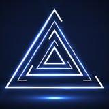 线抽象发光的三角  免版税库存图片